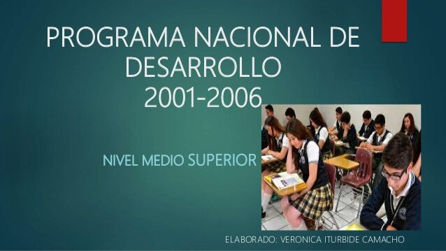 Programa Nacional de Educación de Vicente Fox
