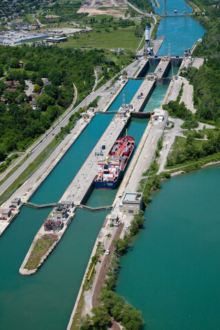 Official Opening of the St Lawrence Seaway.