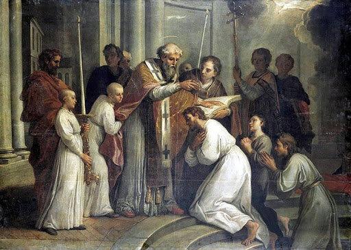 El bautismo de San Agustín
