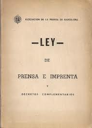 Ley de Prensa.