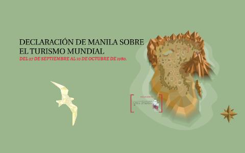 Declaración de Manila sobre el turismo mundial(OMT)