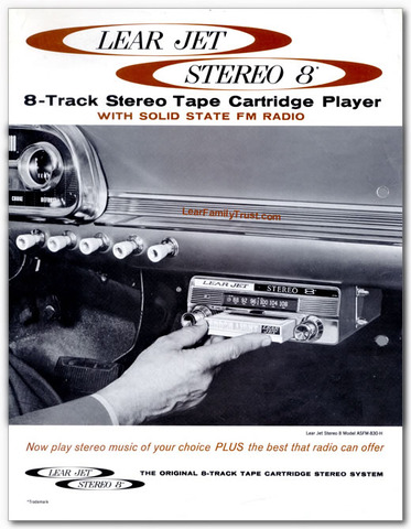 LearJet Stereo 8 track invented