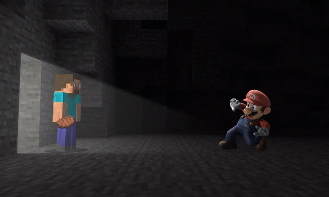 Minecraft crosses over with Super Smash Bros