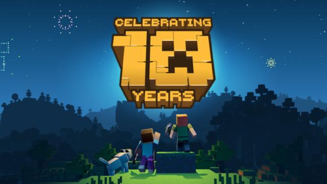 Minecraft celebrates its 10th anniversary