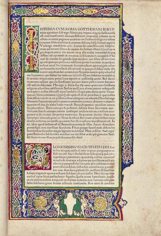 1470 edition of De civitate Dei