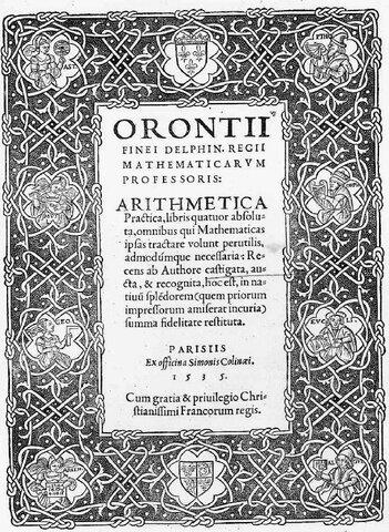 Oronce Finé's Arithmetica