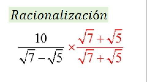 1.7 Racionalización