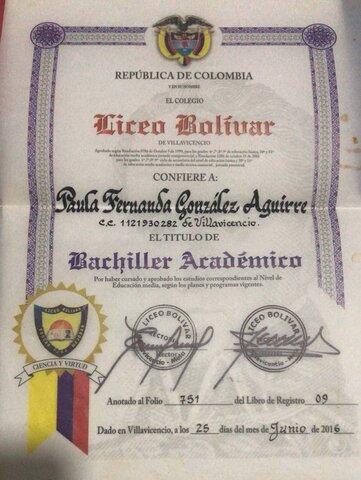 TITULO DE BACHILLER