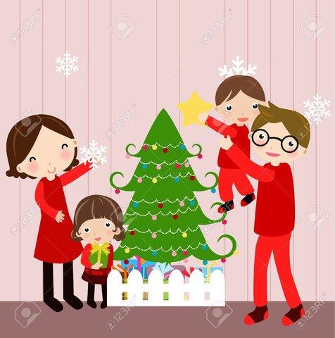 Disfrutamos navidad en familia