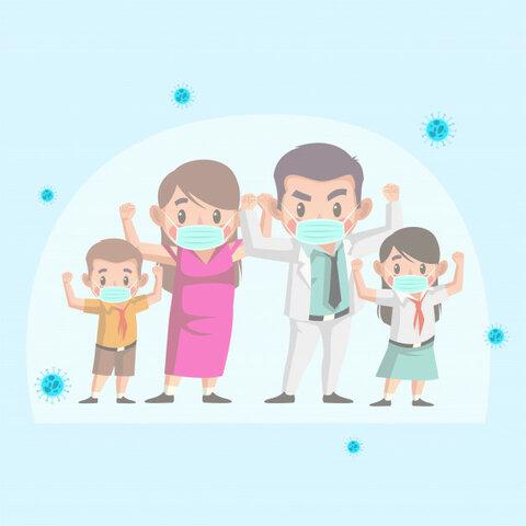 Familia unida ante cualquier adversidad.