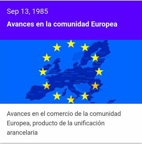 Avances de la comunidad europea