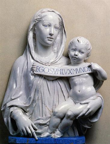 Luca della Robbia, Madonna col bambino