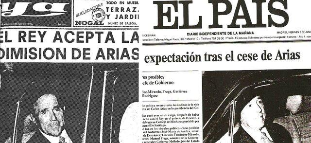 Dimisión de Arias Navarro