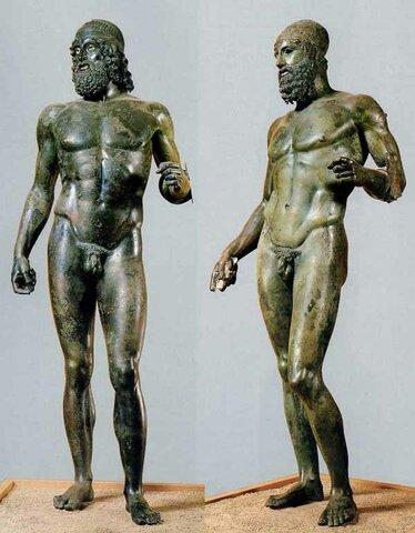 Bronzi di Riace di Agelada e Alcamene