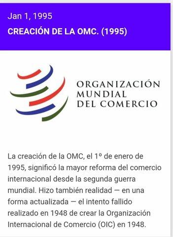 Creación de la OMC 1995