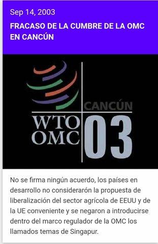 Fracaso de la Cumbre de la OMC