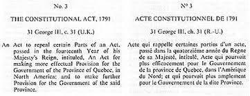 Acte de Québec (3e constitution)