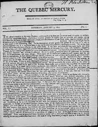 Premier journal d'opinion du Bas-Canada (The Quebec Mercury)