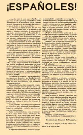 Manifiesto del General Francisco Franco Bahamonde