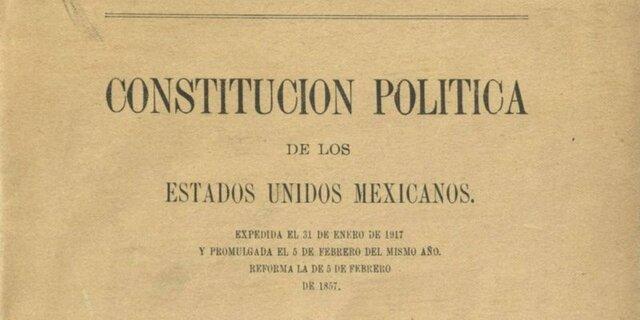 Promulgación de la Constitución Federal de los Estados Unidos Mexicanos.