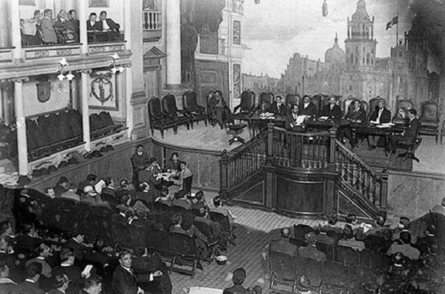 Inaguracion de las sesiones del Constituyente