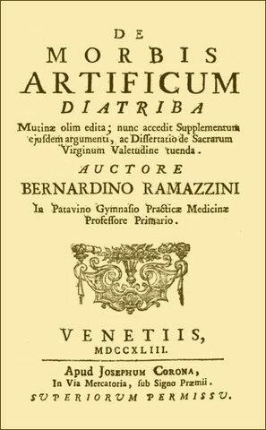 Bernardino Ramazzini padre de la salud ocupacional.