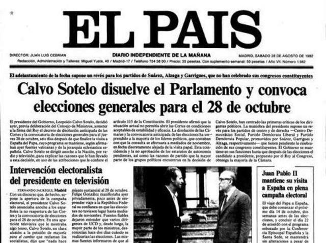 Calvo Sotelo disuelve las Cortes