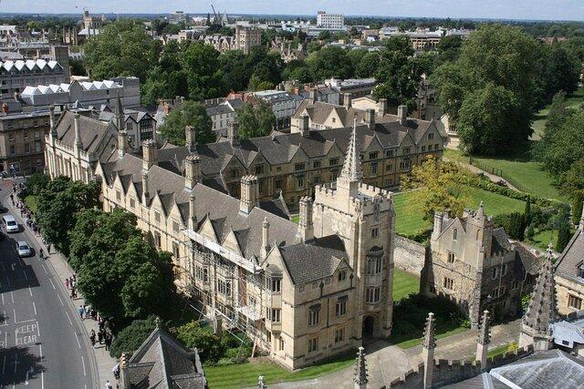 Entered at Magdalen College in Oxford.