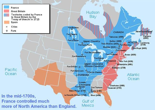 Population Satus of New France and the 13 Colonies
