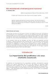 CAUSES DEL MOVIMENT D'EMANCIPACIÓ