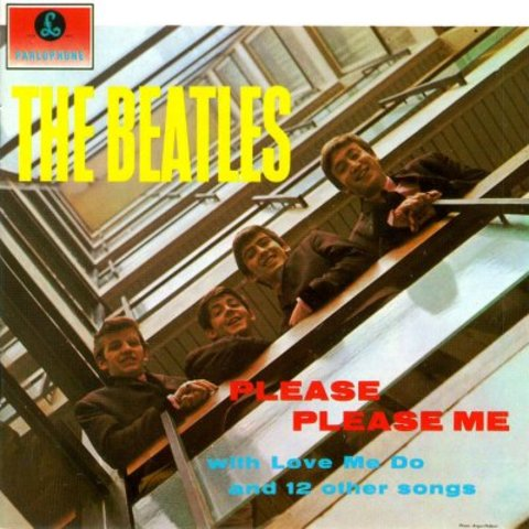 "Beatles release first LP ""Please Please Me"" record under Parlophone records"
