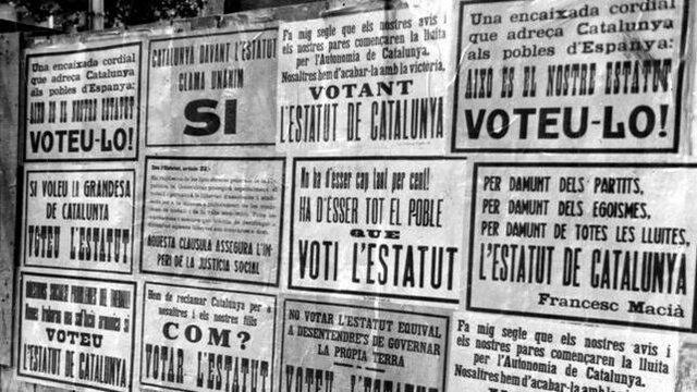 Aprobación del Estatuto de Cataluña y País Vasco