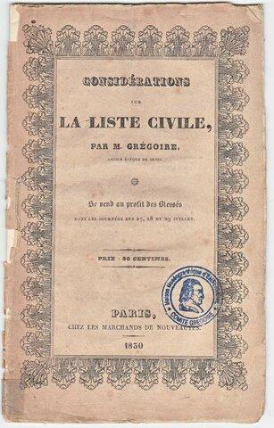 Refus de la liste civile