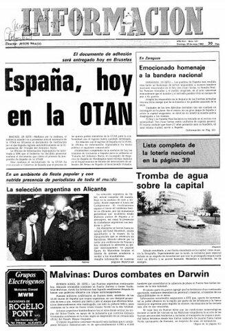 Entrada de España en la OTAN