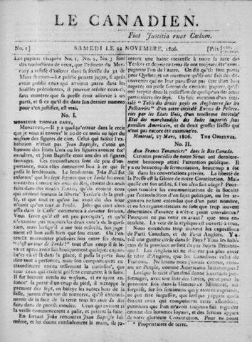 Journal Le Canadien