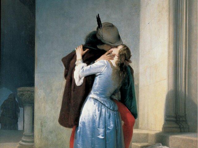 Il bacio, episodi della giovinezza, costumi del secolo XIV