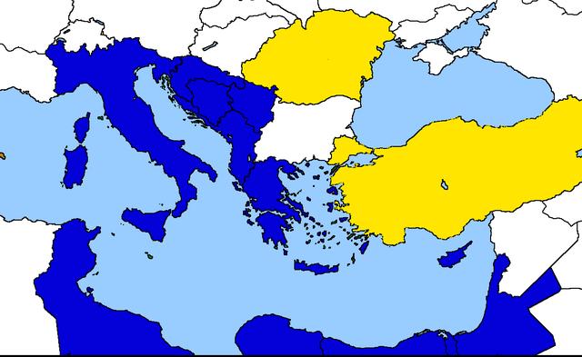 Entrata della Romania e della Turchia nella Comunità Economica Mediterranea