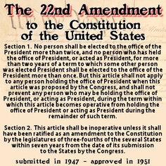 22nd Amendment