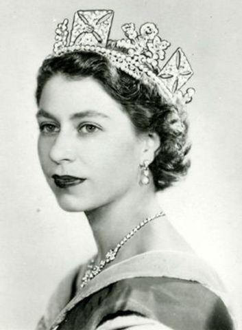 Queen Elizabeth II becomes queen
