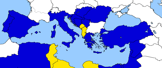 Entrata di Libia, Tunisia, Albania e Montenegro all'interno della Comunità Economica Euro-Mediterranea