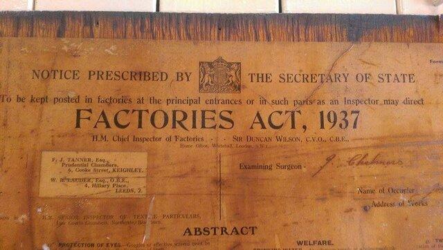 Ley de fabrica