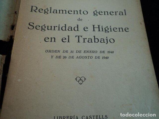 En España- Se aprueba el reglamento de seguridad e higiene en el trabajo