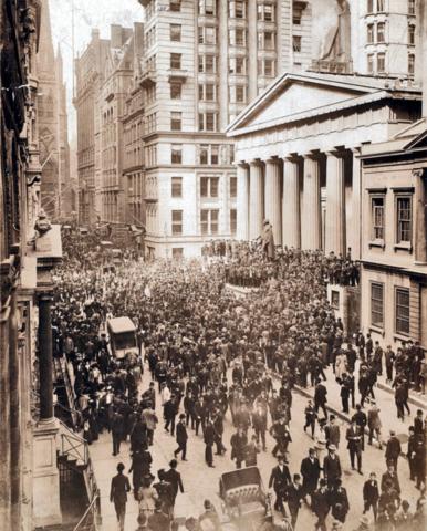 Crisis Financiera de 1907. Pánico financiero de 1907.