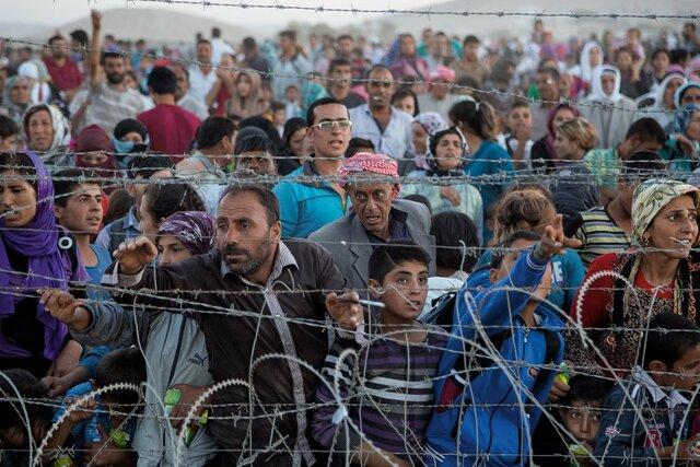 Gente que tubo que huir del Siria
