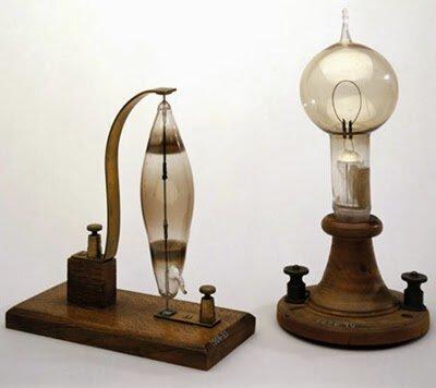 Lámpara eléctrica de incandescencia (Swan,Edison)