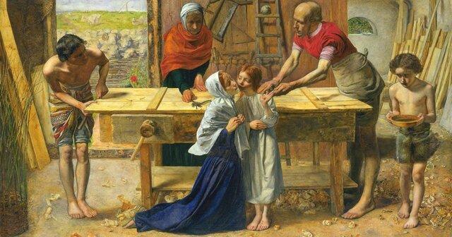 El Cristo en casa de sus padres