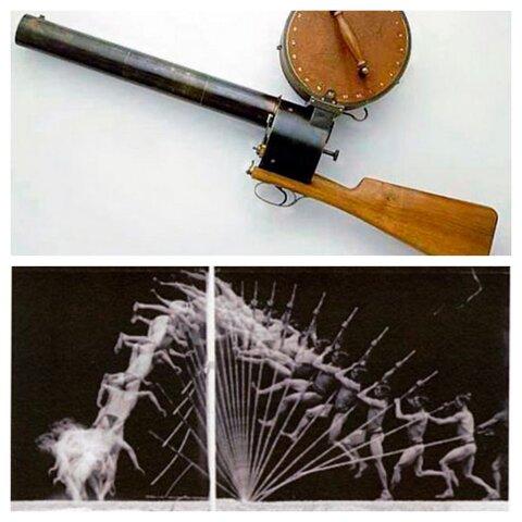 Fusil fotográfico y cámara de cronofotografía