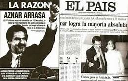 El Partido Popular gana en las elecciones generales por mayoría absoluta y José María Aznar se mantiene como presidente del Gobierno.