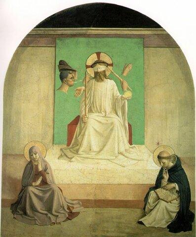 Beato Angelico, Cristo deriso tra la Madonna e San Domenico