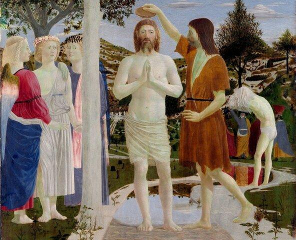 Piero della Francesca, Il battesimo di Cristo